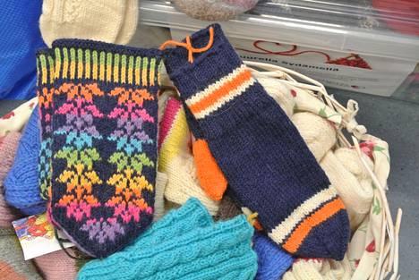 Mukana oli myös Tapparan värejä, mutta toki myös Ilves-sukkia.