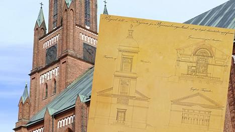 Pori oli vähällä saada aivan toisenlaisen keskuskirkon kuin nykyinen Keski-Porin kirkko. Rakennustutkijan mielestä toteutunut kirkko on kuitenkin selvästi tyylikkäämpi.