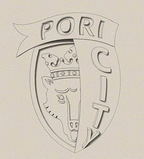 Pori-koruista löytyvät Porin tunnusmerkit tyylikkäästi yhdessä.