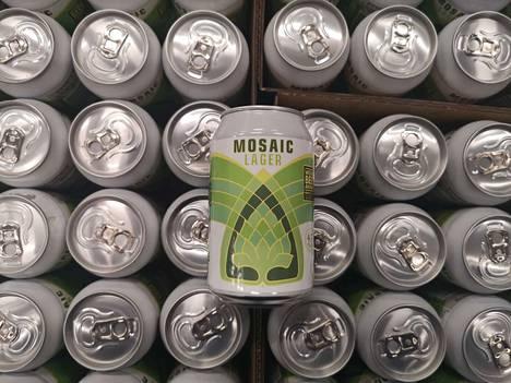 Mosaic Lager maistuu Iso-Britanniassa.