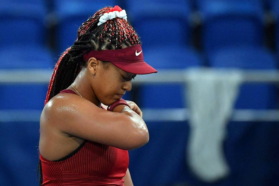 Naomi Osaka pettyi tenniksen kaksinpelissä.