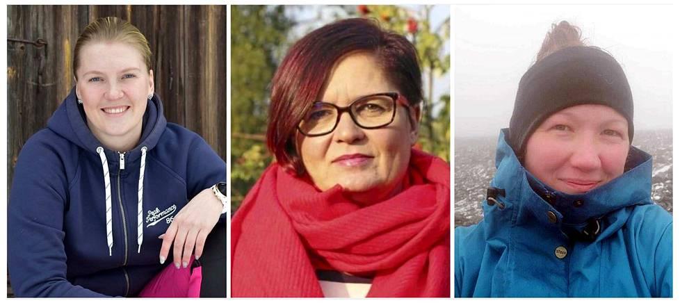Tiina Perämäki (vas.), Sari Saarinen ja Satu Soutolahti vetävät keurusselällä hankkeita, joiden tarkoituksena on yritysten ja alueen elinvoiman kasvattaminen. Tästä esimerkkeinä ovat 30. lokakuuta julkaistava Mun Keuruu -elinvoimasivusto ja samana päivänä järjestettävä webinaari.