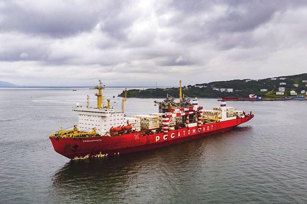 Sevmorput on rakennettu jo 80-luvulla, mutta alus kävi Itämerellä ensimmäisen kerran vasta viime vuonna.