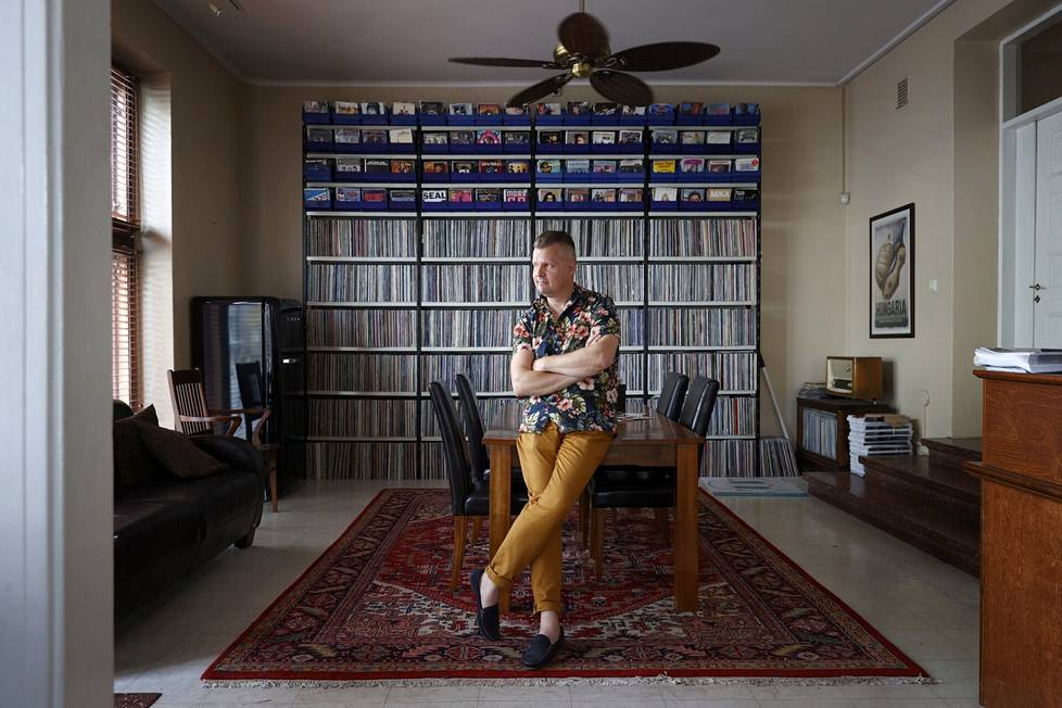 Altti Papinsaari on keräillyt levykokoelmaansa yli 40 vuotta.