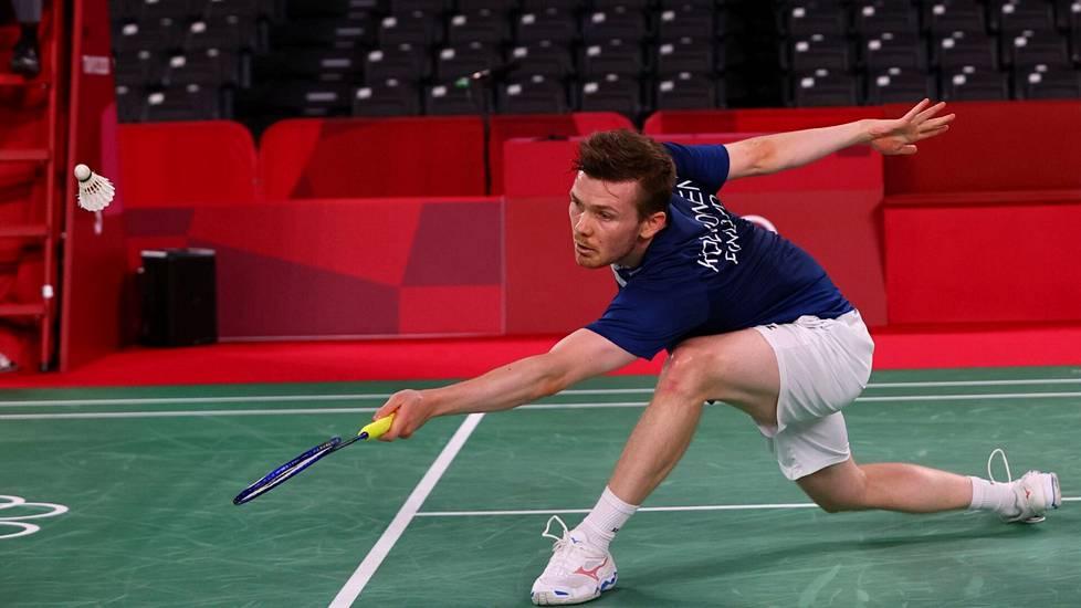 Kalle Koljonen hävisi alkulohkossa tulevalle olympiavoittajalle Tanskan Viktor Axelsenille.