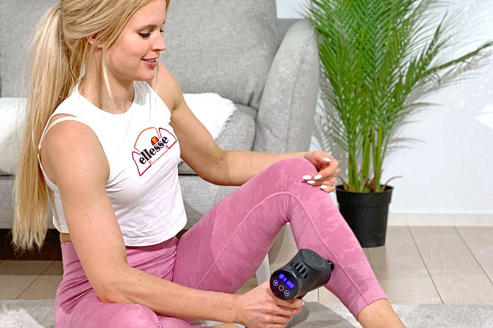 Lihashuoltovasaran käyttö on yksinkertaista. Laitteen hierontapää painetaan ihoa vasten kipeytyneen lihaksen kohtaan.